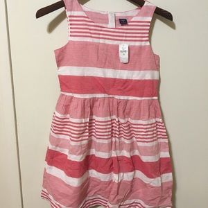 Nwt gap kids red and white striped dress